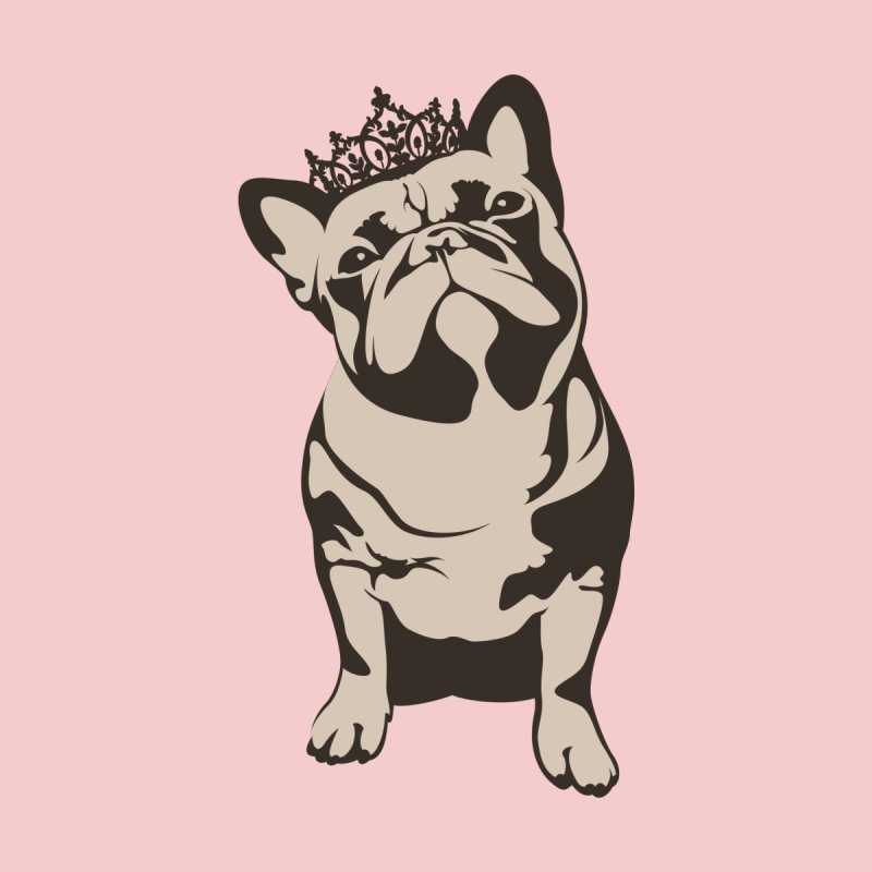 Princess Bulldog by Shirts by Bruce Freeby