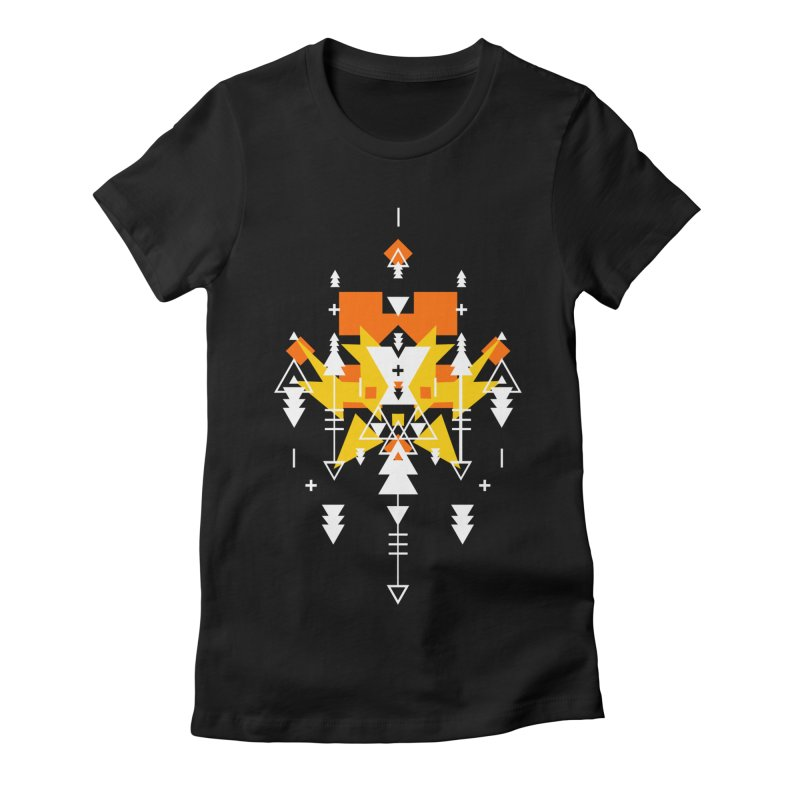 Fire Women's Fitted T-Shirt by Bru & Gru