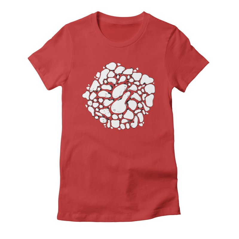 Pebbles Women's Fitted T-Shirt by Bru & Gru