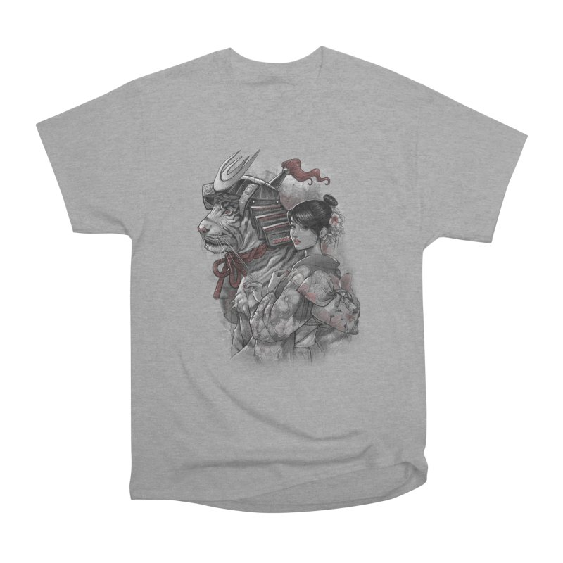 Samurai Tiger Women's Heavyweight Unisex T-Shirt by brunomota's Artist Shop