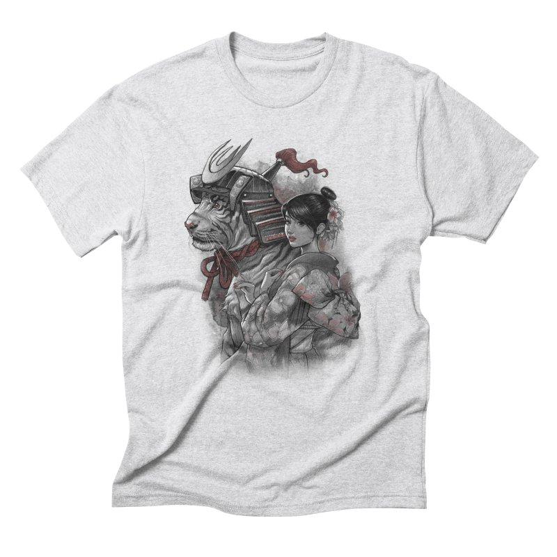 Samurai Tiger Men's Triblend T-Shirt by brunomota's Artist Shop