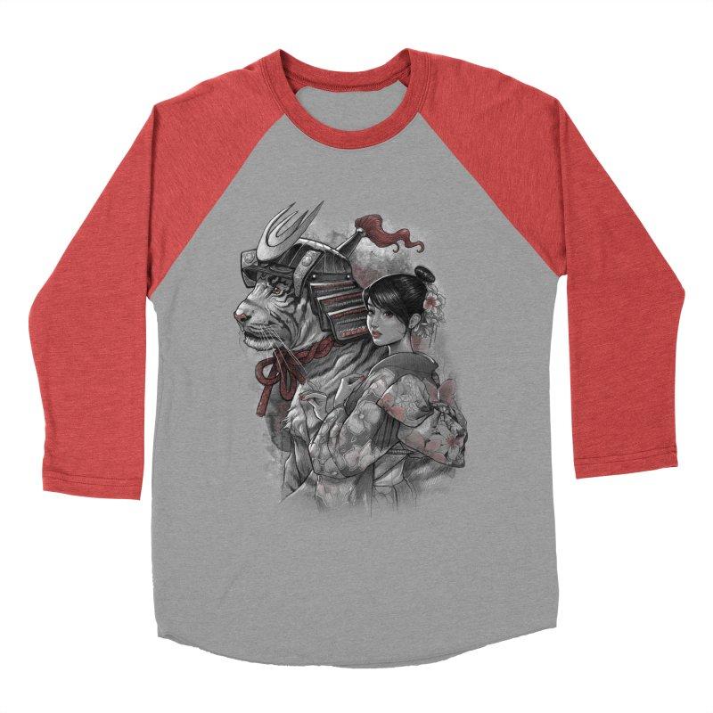 Samurai Tiger Women's Baseball Triblend Longsleeve T-Shirt by brunomota's Artist Shop