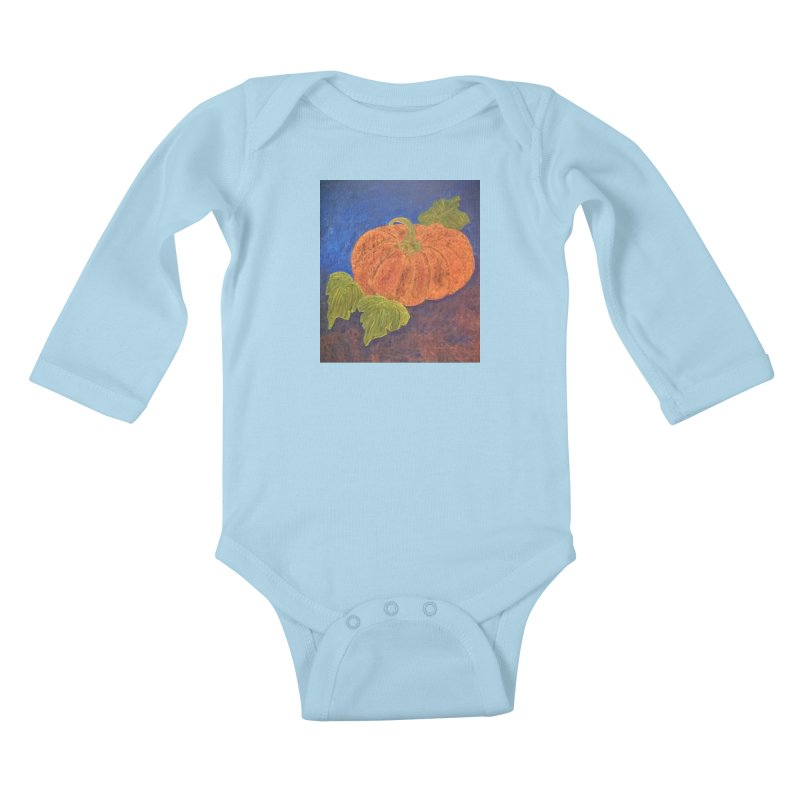 The Cinderella Pumpkin Kids Baby Longsleeve Bodysuit by brusling's Artist Shop