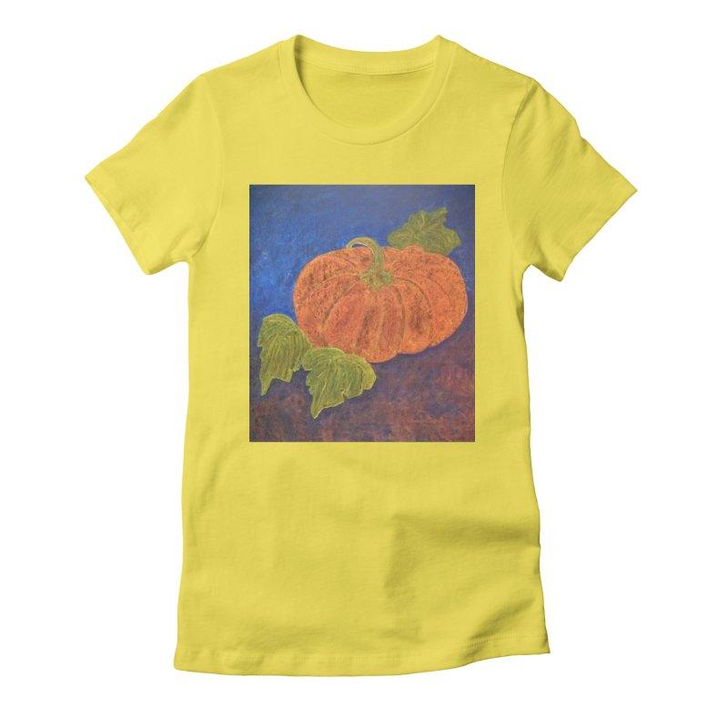 The Cinderella Pumpkin Women's Fitted T-Shirt by brusling's Artist Shop