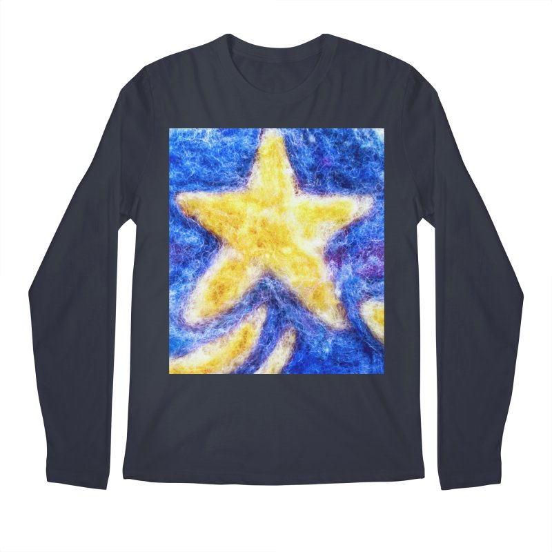 Shooting Star Men's Longsleeve T-Shirt by brusling's Artist Shop