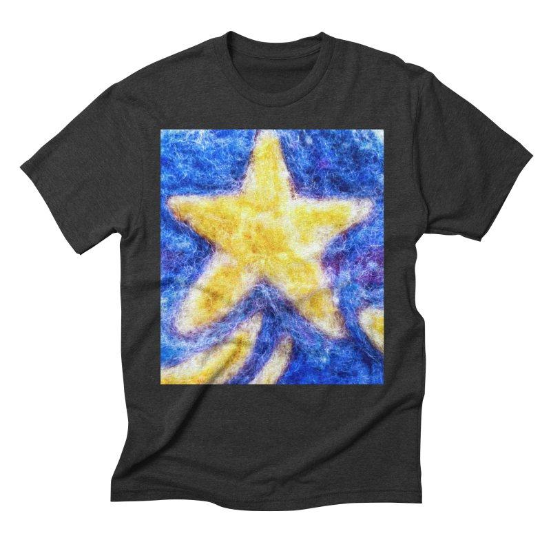 Shooting Star Men's Triblend T-shirt by brusling's Artist Shop