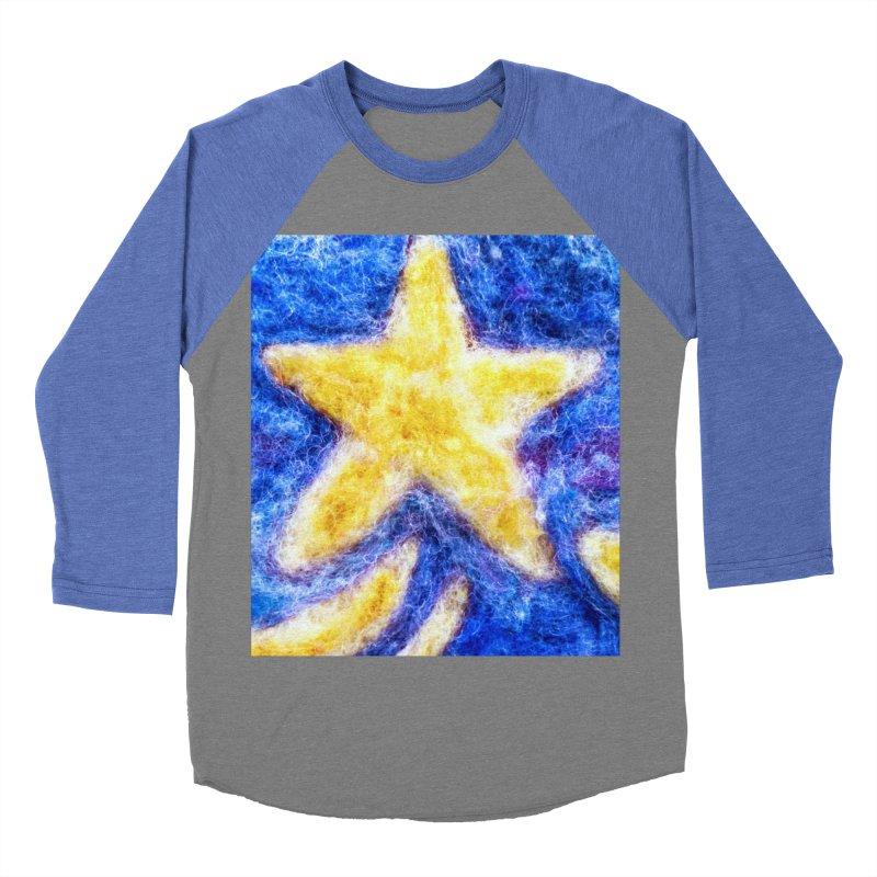 Shooting Star Men's Baseball Triblend T-Shirt by brusling's Artist Shop