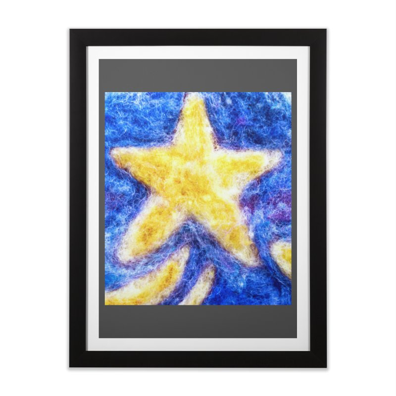 Shooting Star Home Framed Fine Art Print by brusling's Artist Shop