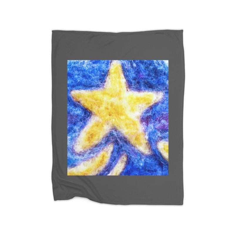 Shooting Star Home Blanket by brusling's Artist Shop