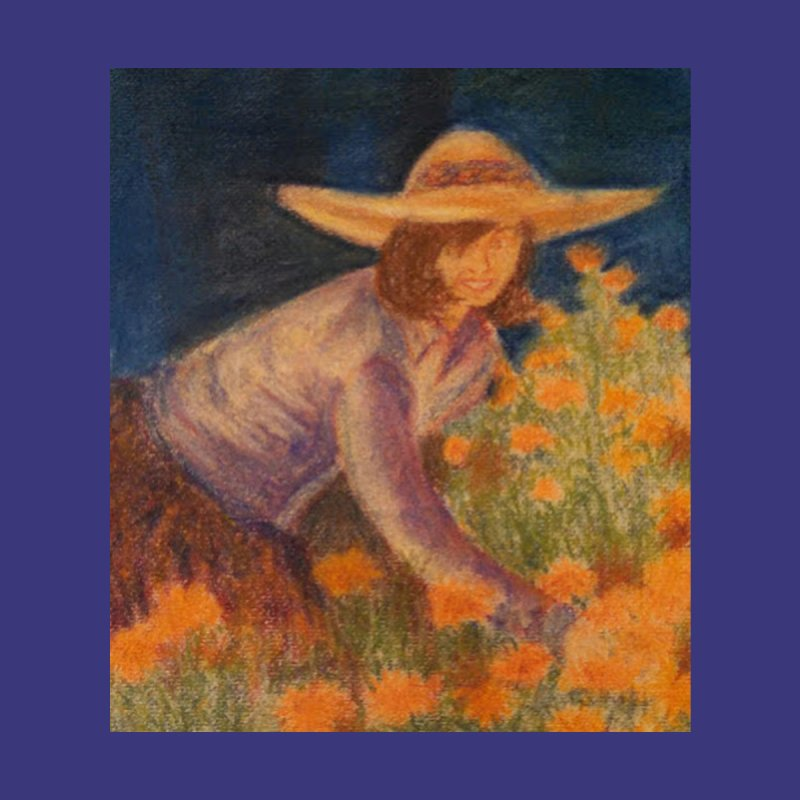 Sharon In Her Garden None  by brusling's Artist Shop