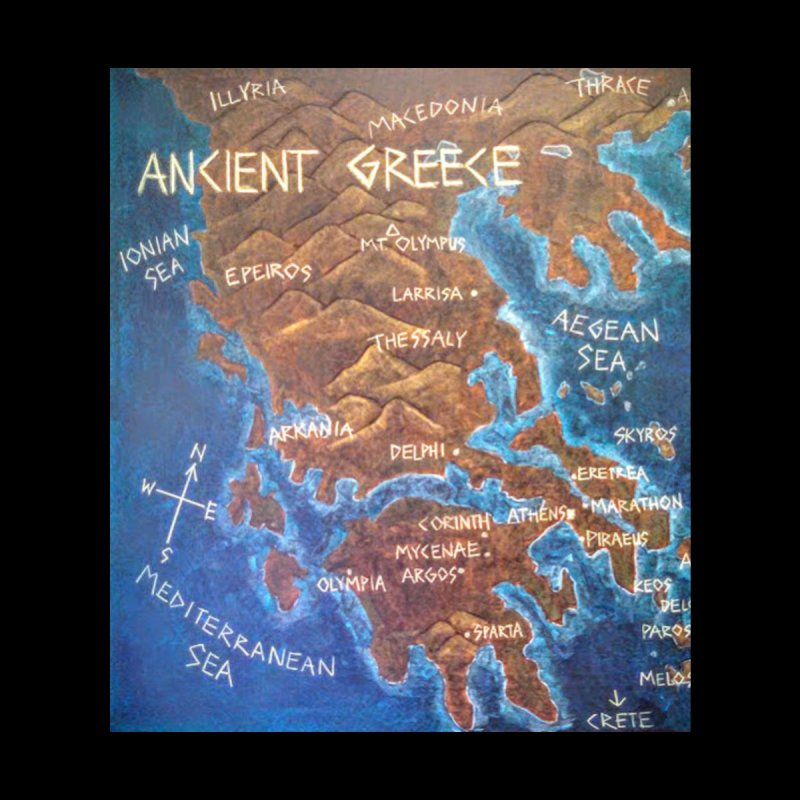 Map of Ancient Greece None  by brusling's Artist Shop