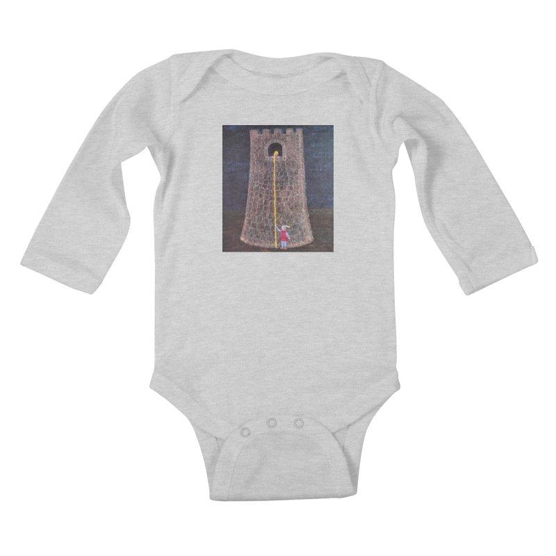 Rapunzel Kids Baby Longsleeve Bodysuit by brusling's Artist Shop