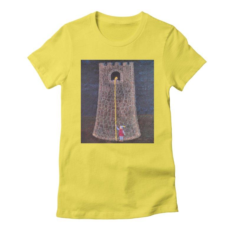 Rapunzel Women's Fitted T-Shirt by brusling's Artist Shop