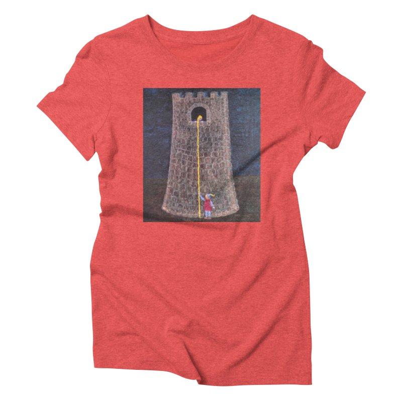 Rapunzel Women's Triblend T-Shirt by brusling's Artist Shop