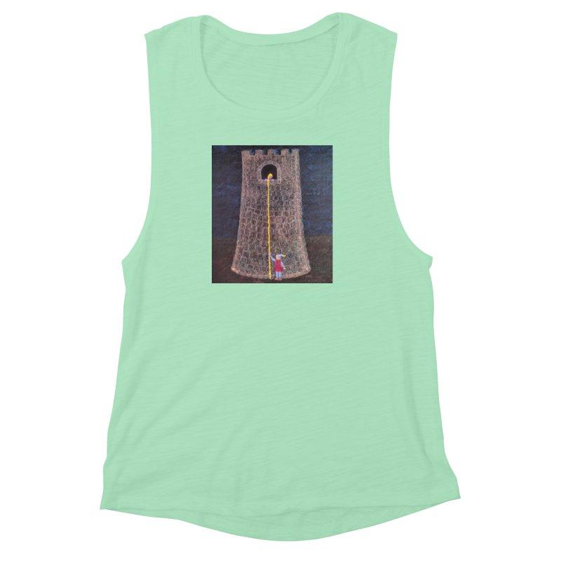 Rapunzel Women's Muscle Tank by brusling's Artist Shop