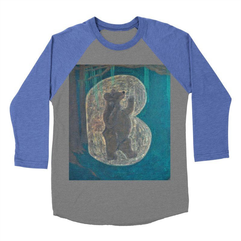 B is for Bear Women's Baseball Triblend T-Shirt by brusling's Artist Shop