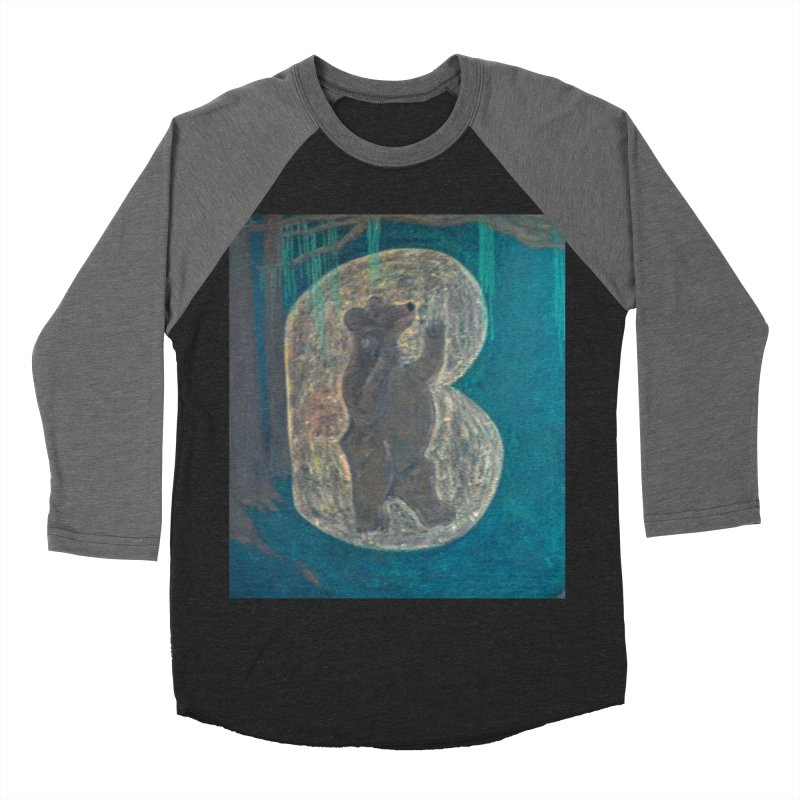 B is for Bear Men's Baseball Triblend T-Shirt by brusling's Artist Shop