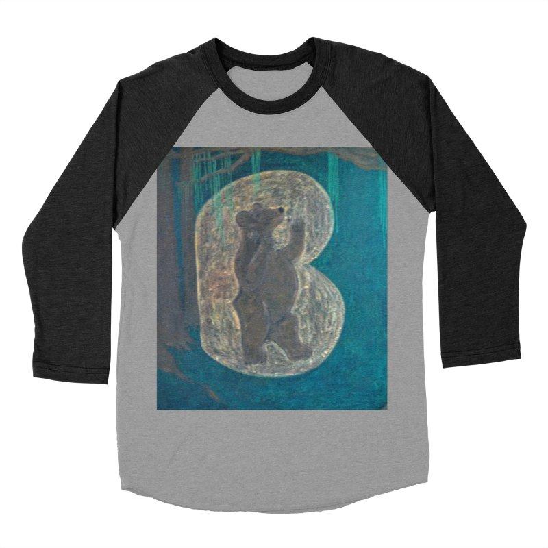 B is for Bear Men's Baseball Triblend T-Shirt by brusling's Artist Shop