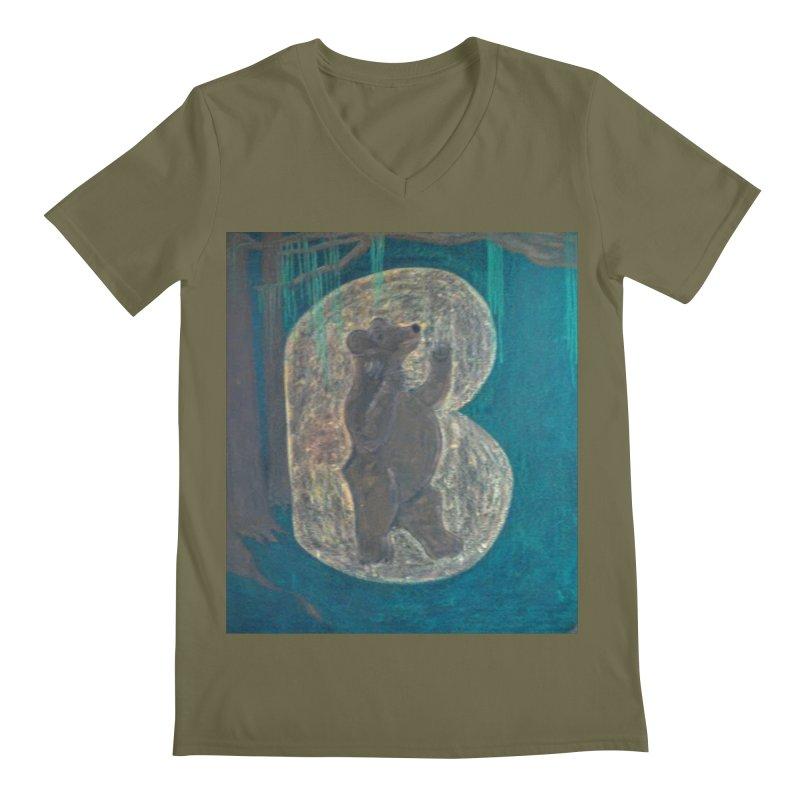 B is for Bear Men's V-Neck by brusling's Artist Shop