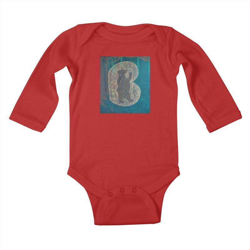 B is for Bear Kids Baby Longsleeve Bodysuit by brusling's Artist Shop