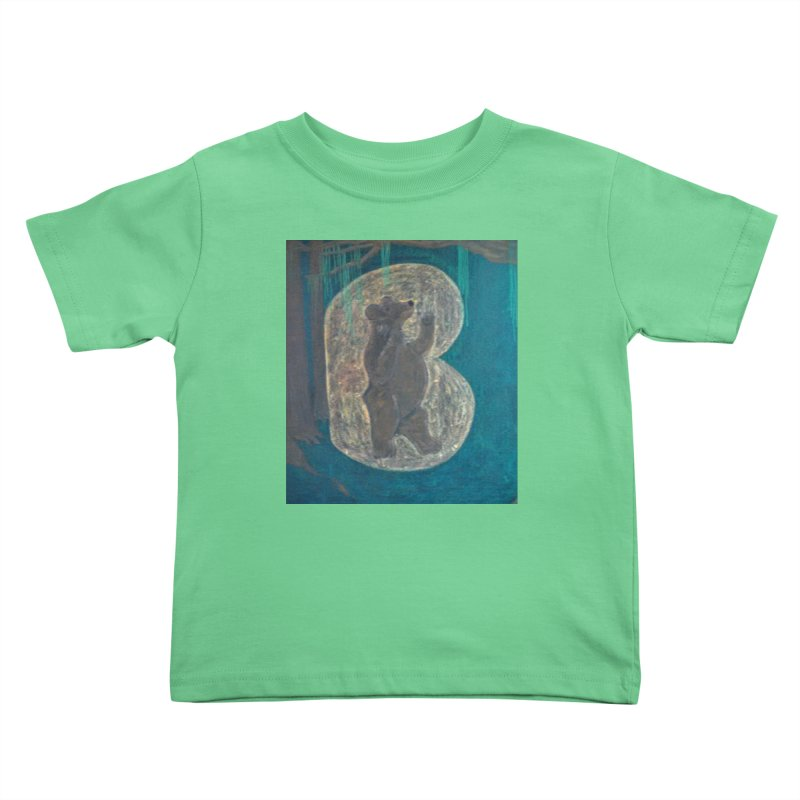 B is for Bear Kids Toddler T-Shirt by brusling's Artist Shop