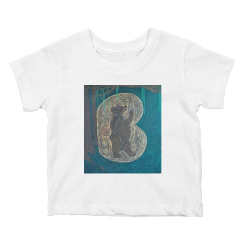 B is for Bear Kids Baby T-Shirt by brusling's Artist Shop