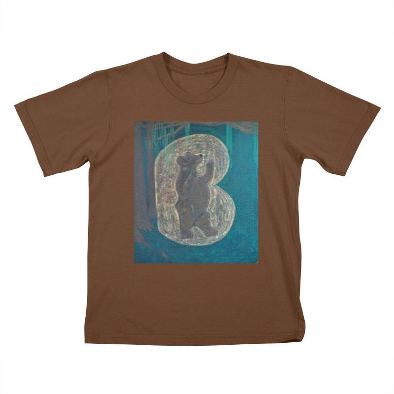 B is for Bear Kids T-shirt by brusling's Artist Shop