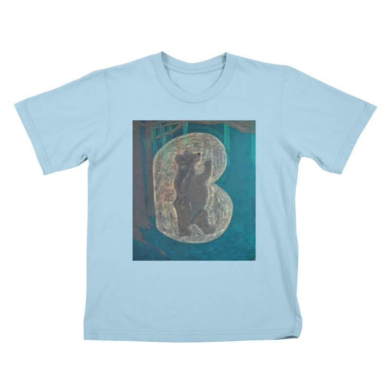 B is for Bear Kids T-shirt by brusling's Artist Shop