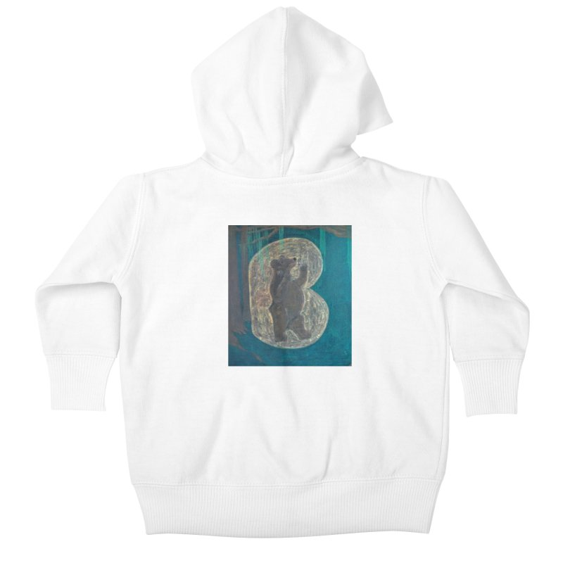 B is for Bear Kids Baby Zip-Up Hoody by brusling's Artist Shop