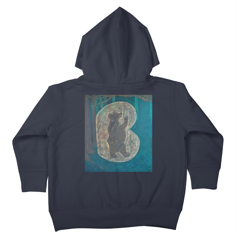 B is for Bear Kids Toddler Zip-Up Hoody by brusling's Artist Shop