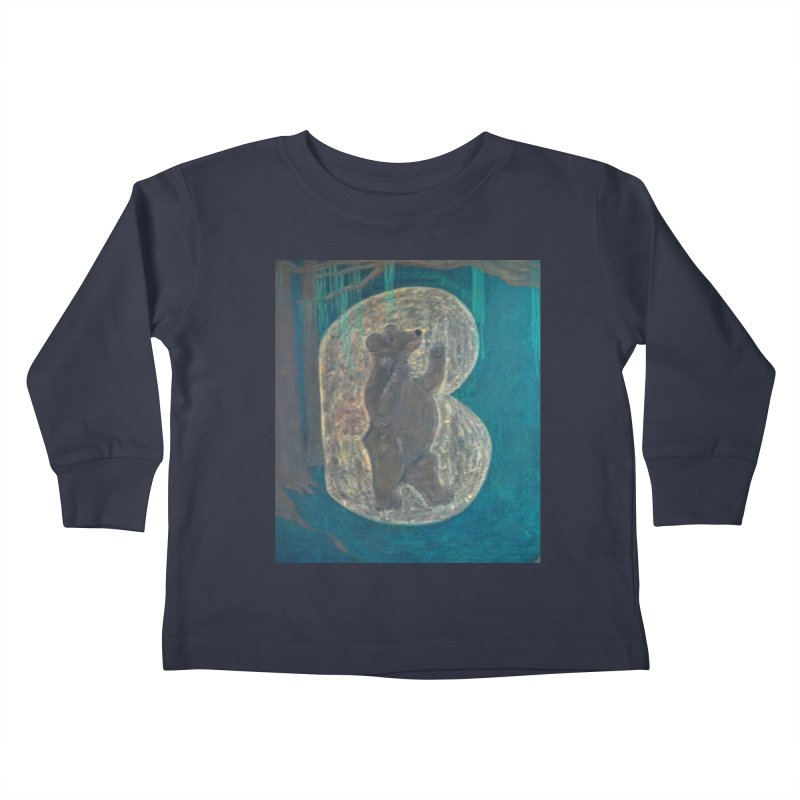 B is for Bear Kids Toddler Longsleeve T-Shirt by brusling's Artist Shop
