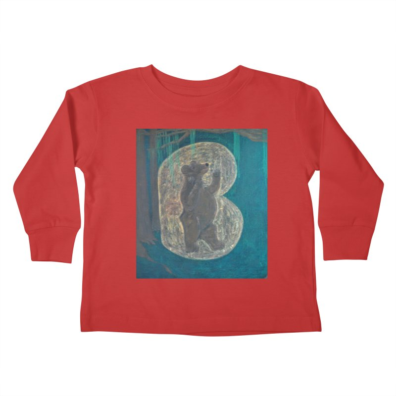 B is for Bear Kids Toddler Longsleeve T-Shirt by brusling's Artist Shop
