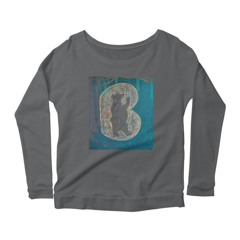 B is for Bear Women's Longsleeve Scoopneck  by brusling's Artist Shop