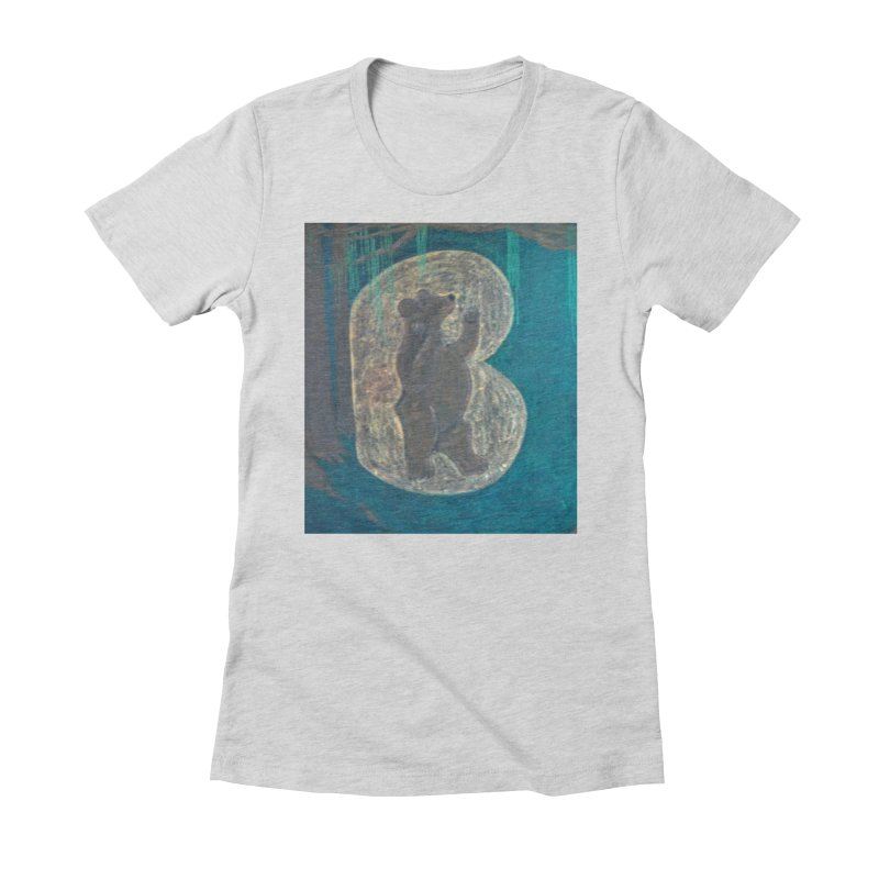 B is for Bear Women's Fitted T-Shirt by brusling's Artist Shop