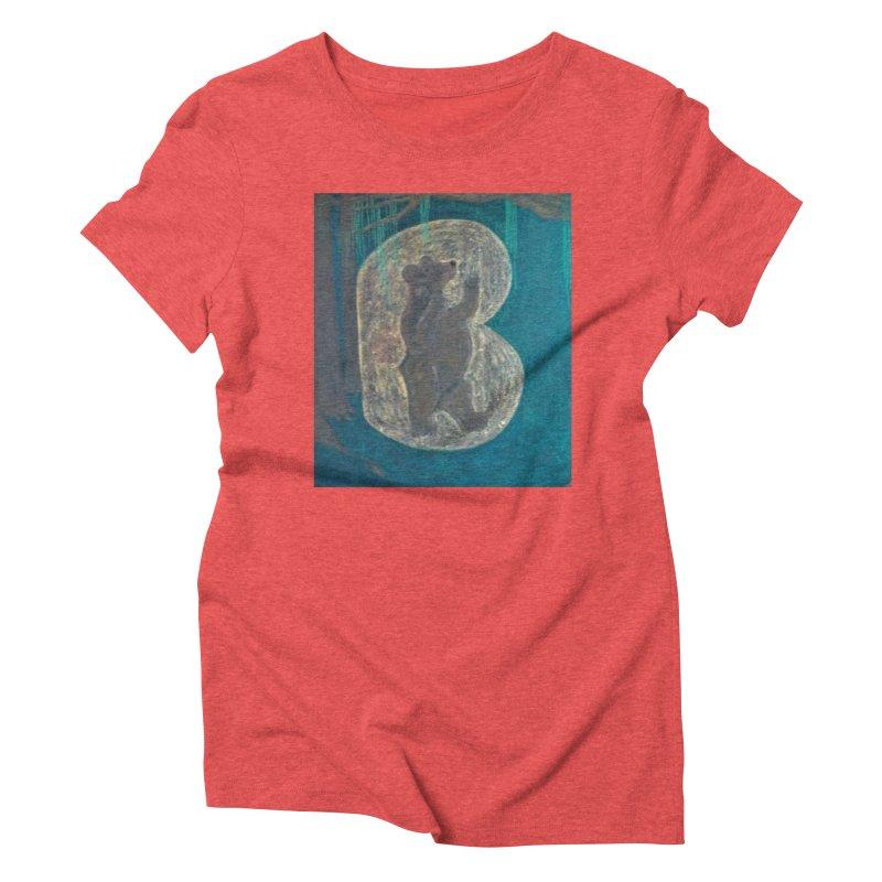 B is for Bear Women's Triblend T-Shirt by brusling's Artist Shop