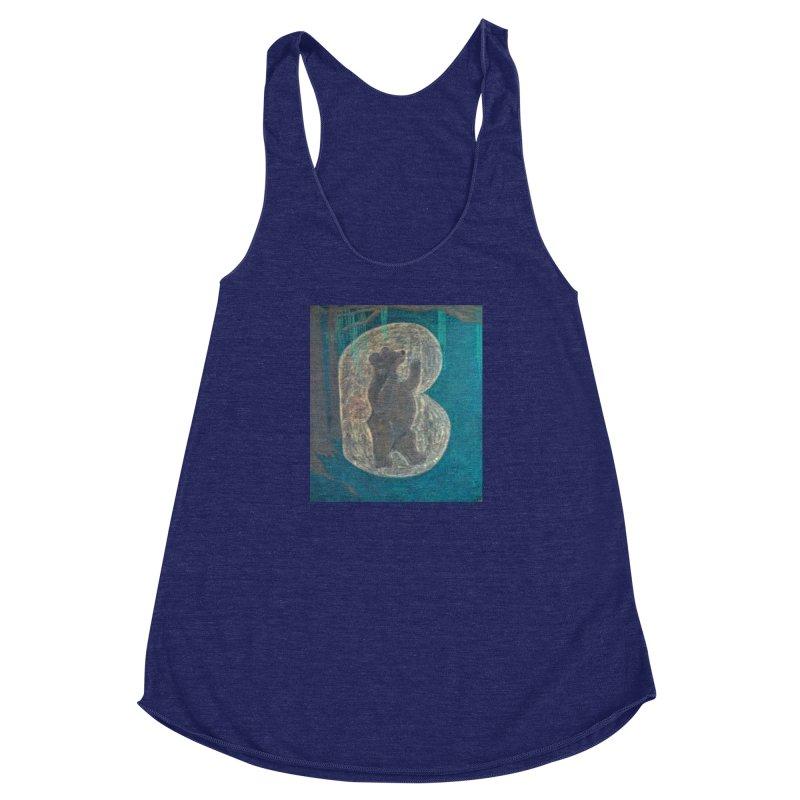 B is for Bear Women's Racerback Triblend Tank by brusling's Artist Shop