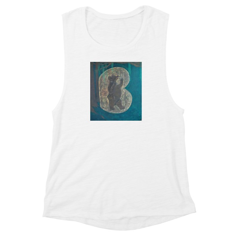 B is for Bear Women's Muscle Tank by brusling's Artist Shop