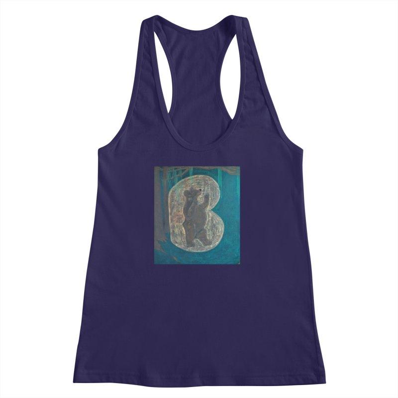 B is for Bear Women's Racerback Tank by brusling's Artist Shop