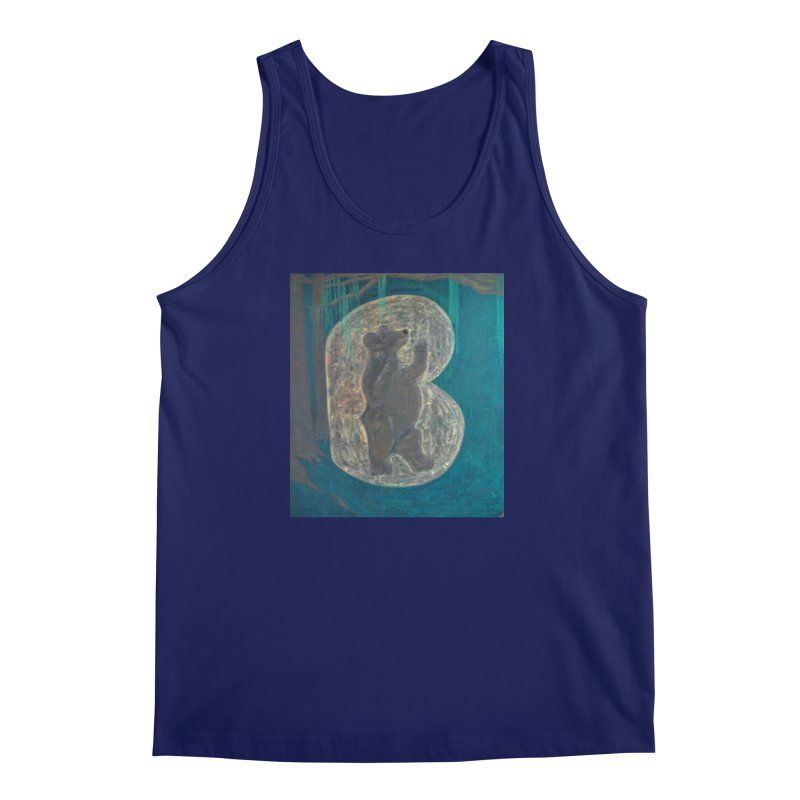 B is for Bear Men's Tank by brusling's Artist Shop