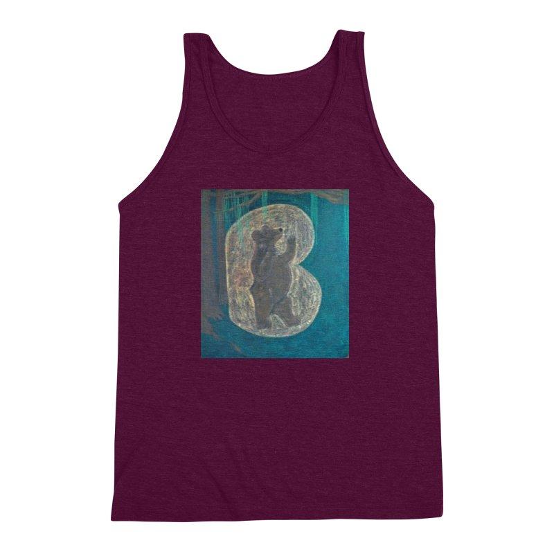B is for Bear Men's Triblend Tank by brusling's Artist Shop