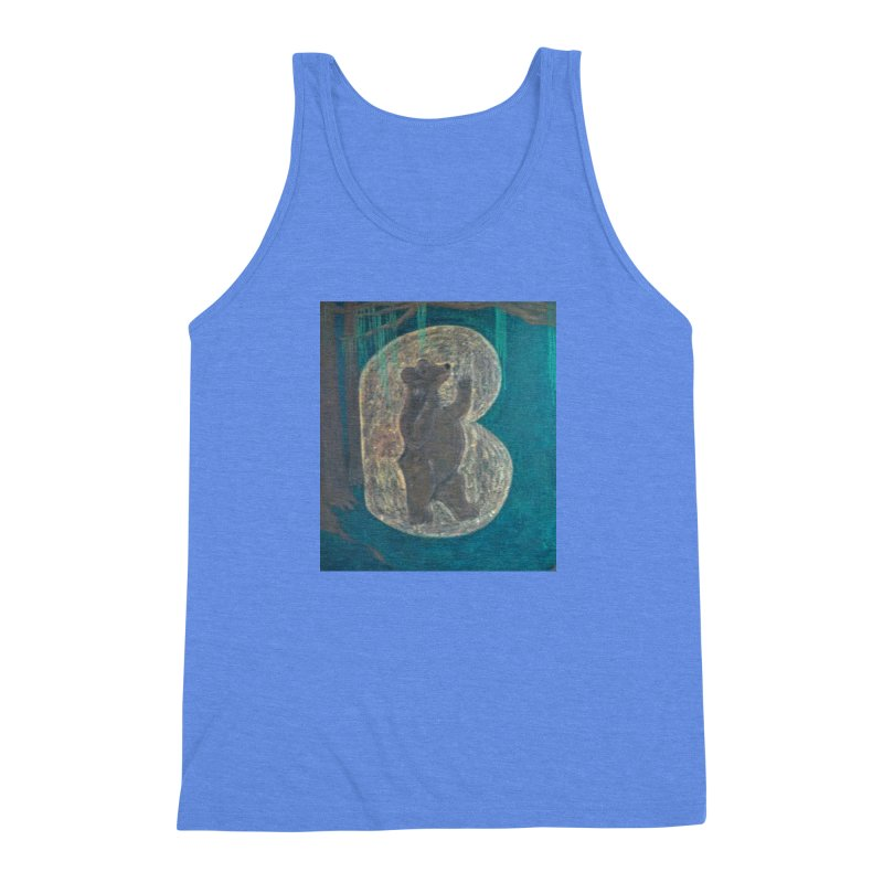 B is for Bear Men's Triblend Tank by brusling's Artist Shop
