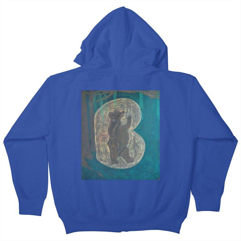 B is for Bear Kids Zip-Up Hoody by brusling's Artist Shop