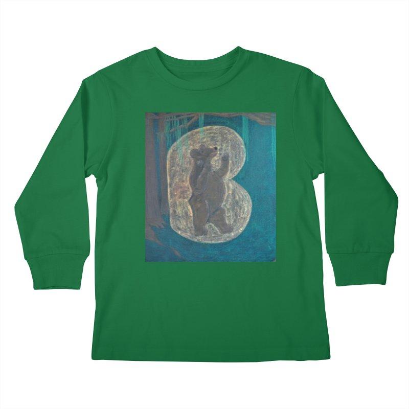 B is for Bear Kids Longsleeve T-Shirt by brusling's Artist Shop