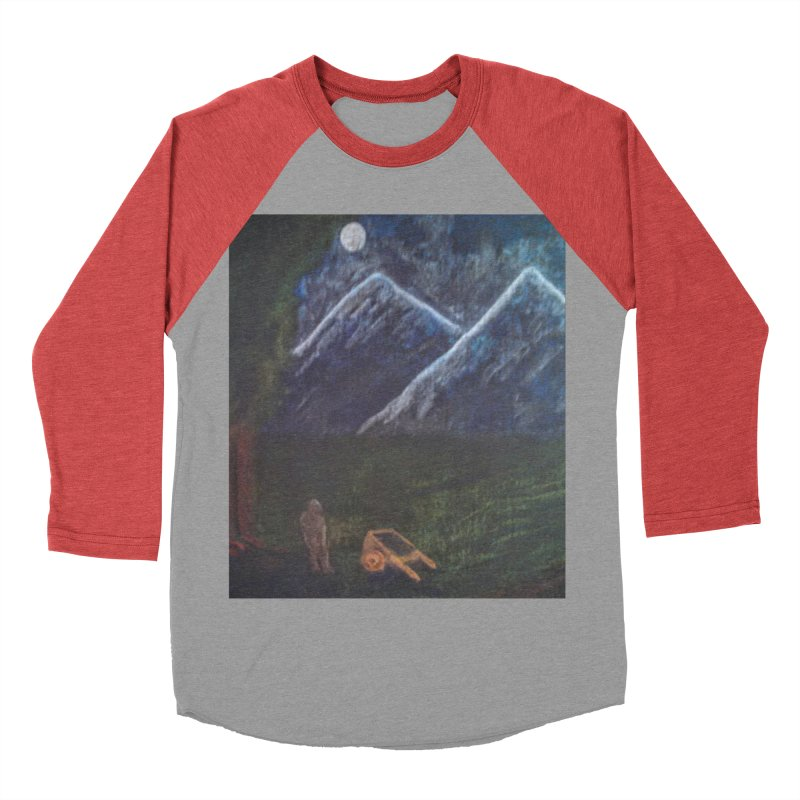 M is for Mountain Women's Baseball Triblend T-Shirt by brusling's Artist Shop
