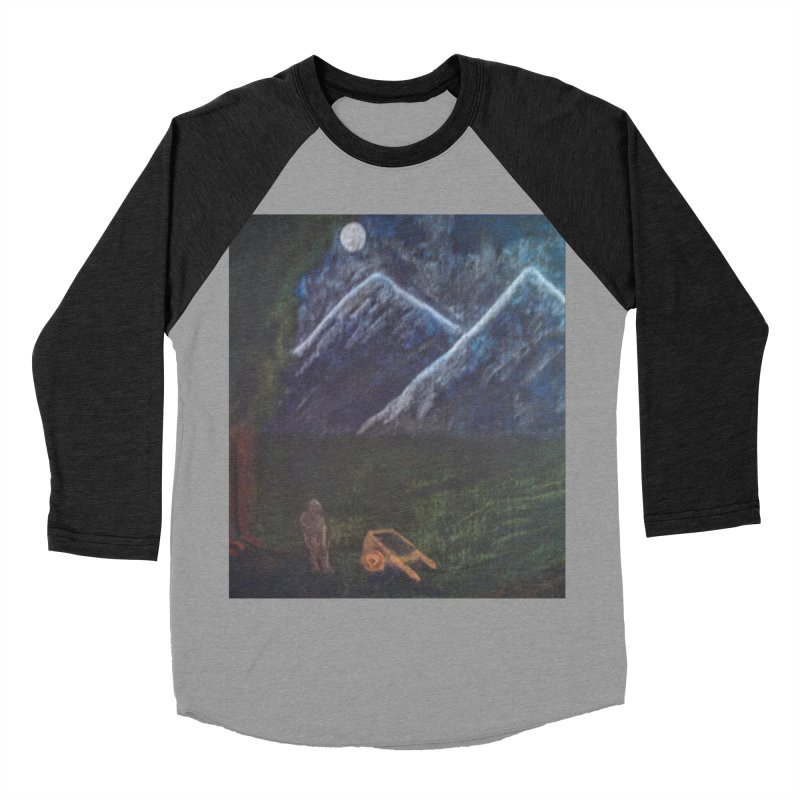 M is for Mountain Men's Baseball Triblend T-Shirt by brusling's Artist Shop
