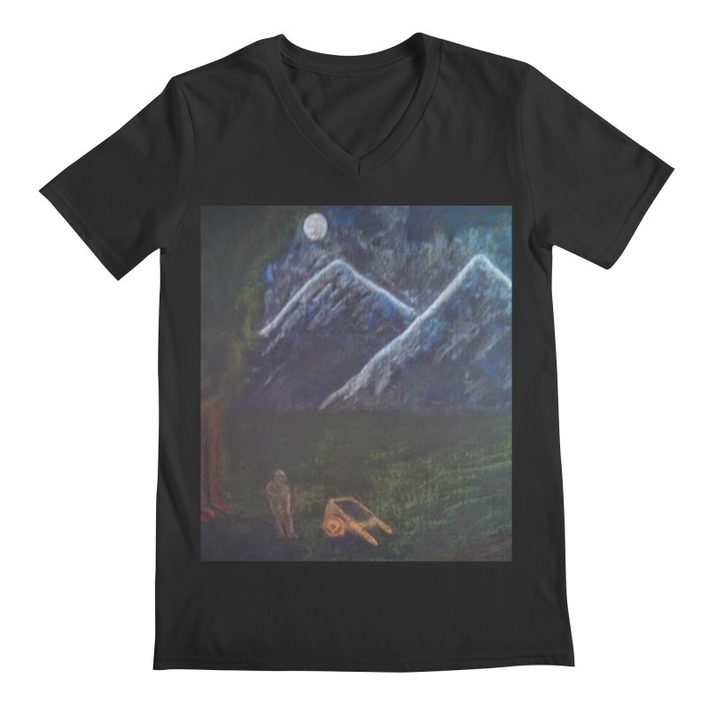M is for Mountain Men's V-Neck by brusling's Artist Shop