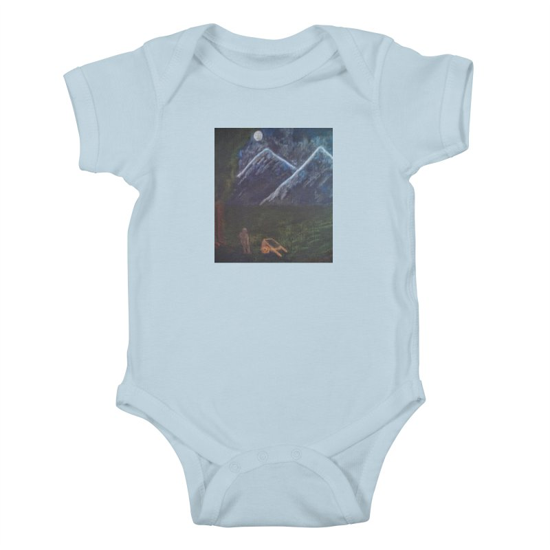 M is for Mountain Kids Baby Bodysuit by brusling's Artist Shop