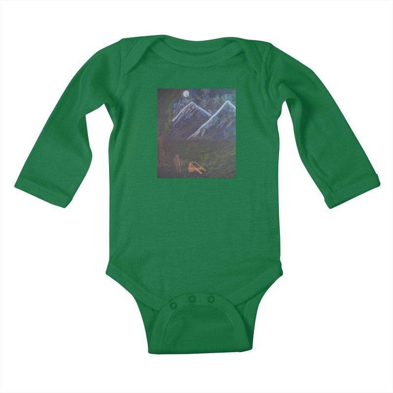 M is for Mountain Kids Baby Longsleeve Bodysuit by brusling's Artist Shop