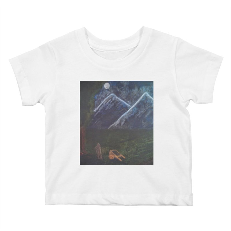 M is for Mountain Kids Baby T-Shirt by brusling's Artist Shop