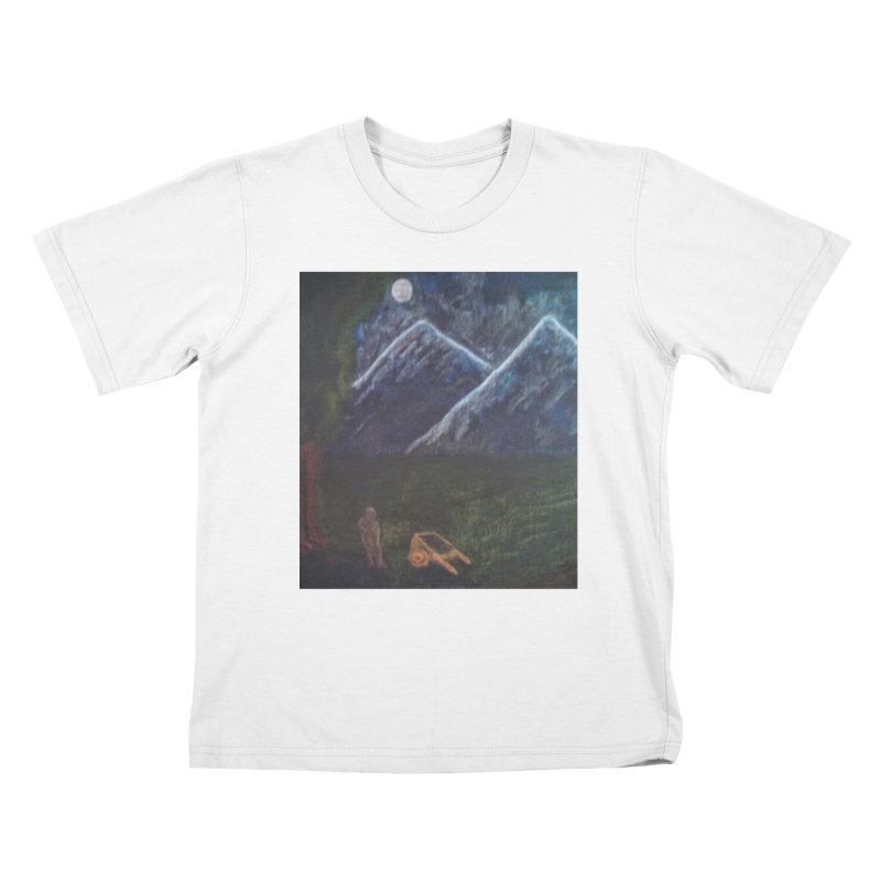 M is for Mountain Kids T-Shirt by brusling's Artist Shop